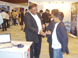 WebERP4 & CloudERP4 booth at IndiaSoft 2012 in HICC